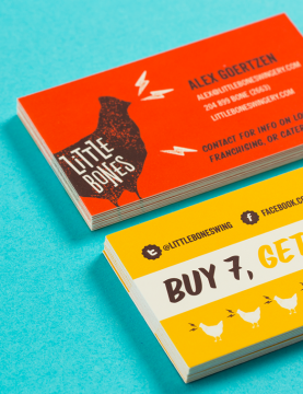 Little Bones Wings Brand Identity - One Plus One Design