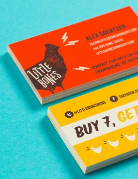 Little Bones Wings Brand Identity - One Plus One Design