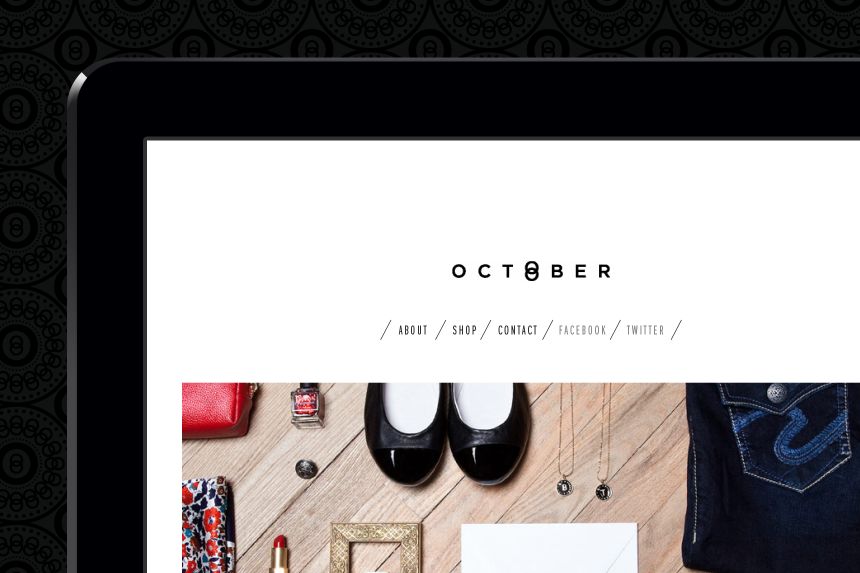 October Boutique Website Design - One Plus One Design