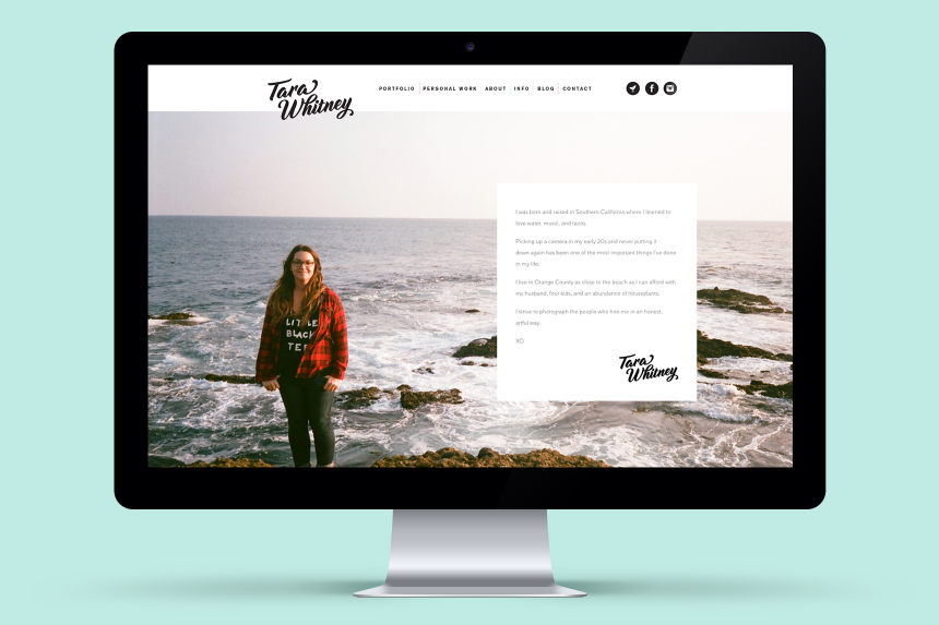 Tara Whitney Photography Brand Identity - One Plus One Design