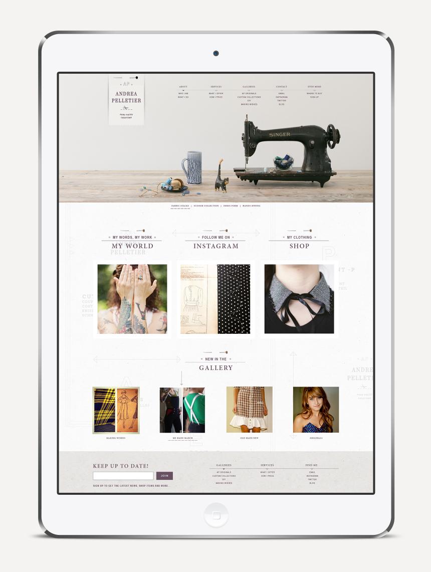Andrea Pelletier Website Design - One Plus One Design
