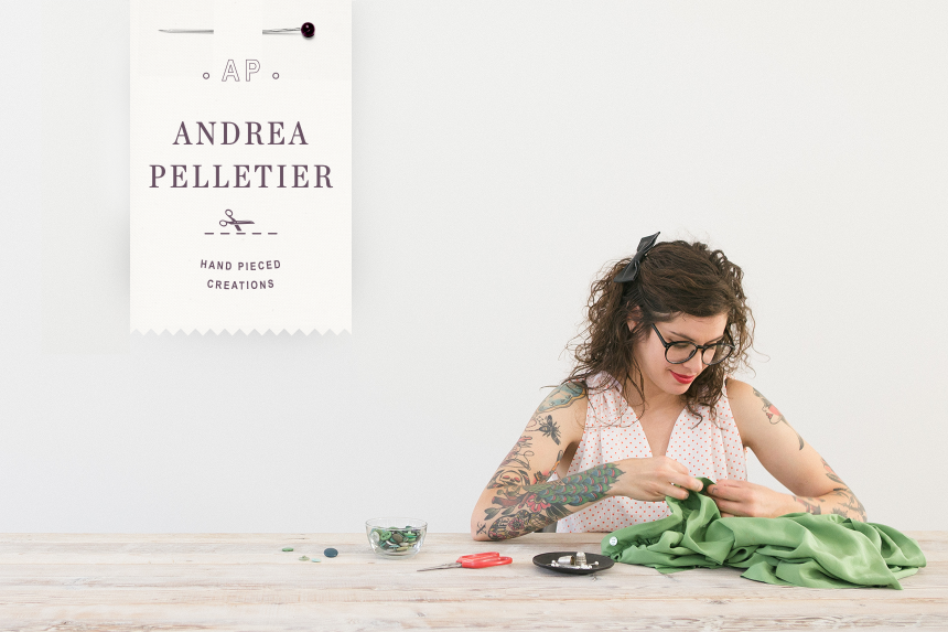 Andrea Pelletier Brand Identity - One Plus One Design