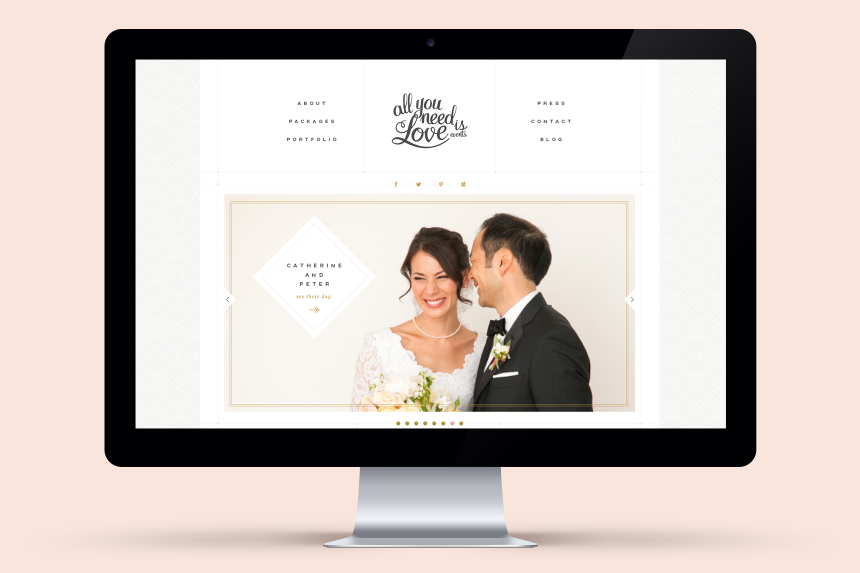 All You Need is Love Website Design - One Plus One Design