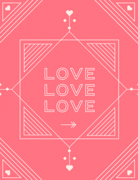 All You Need is Love Brand Identity - One Plus One Design