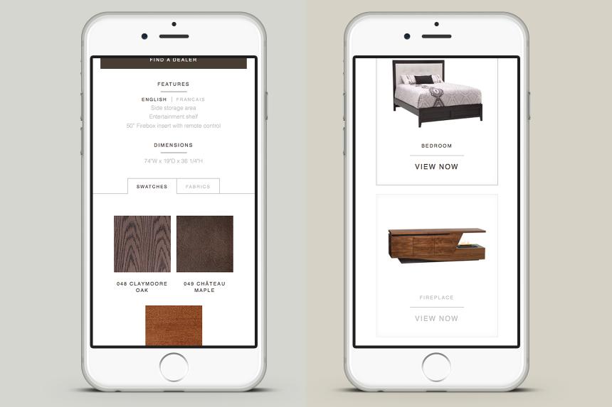 Buhler Furniture Mobile Design - One Plus One Design
