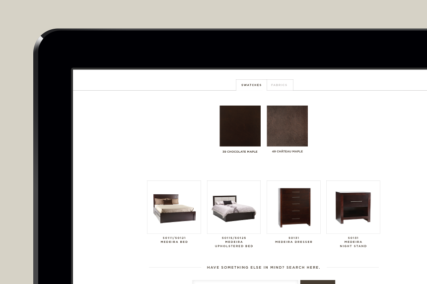 Buhler Furniture Website Design - One Plus One Design