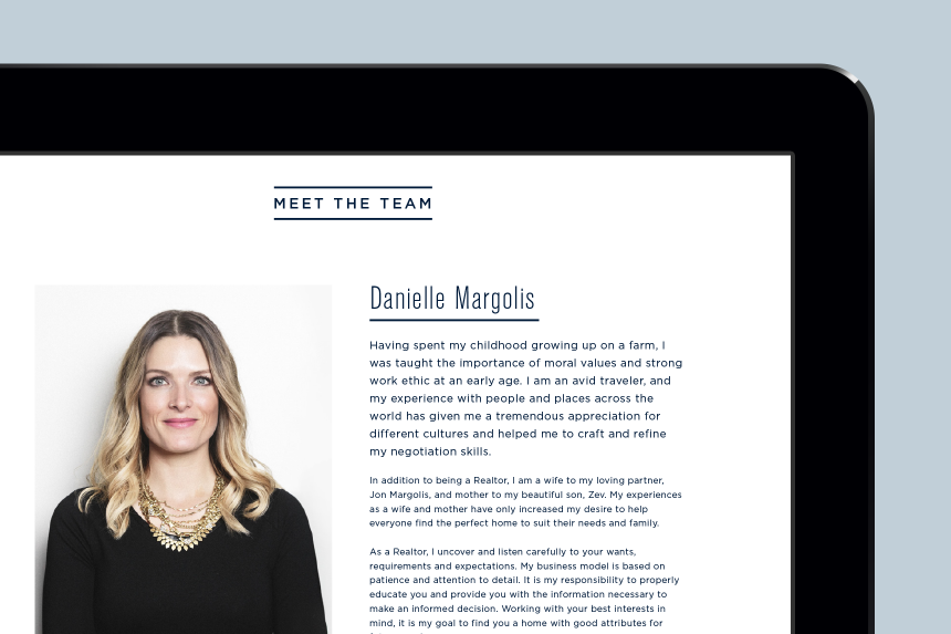 The Furlan Margolis Team Website Design - One Plus One Design