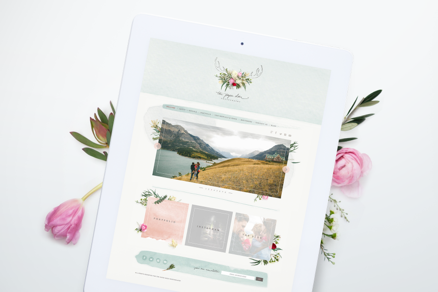 The Paper Deer Photography Website Design - One Plus One Design