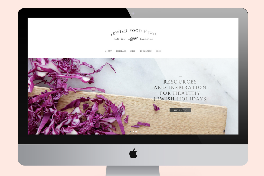 Jewish Food Hero Website Design - One Plus One Design