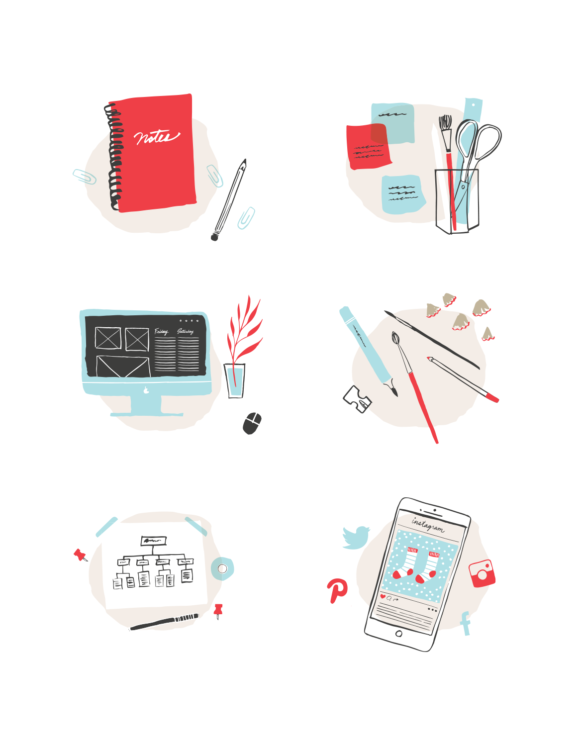 One Plus One Design - Service Illustrations